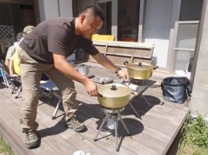 ポリ袋で作るご飯!!児童部 防災食