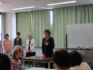 国際ソロプチミスト大阪―中央様の生け花教室