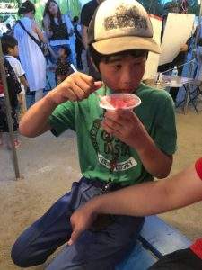 夏休みの思い出絵日記風ブログ ④ ~喜志西小夏祭り~