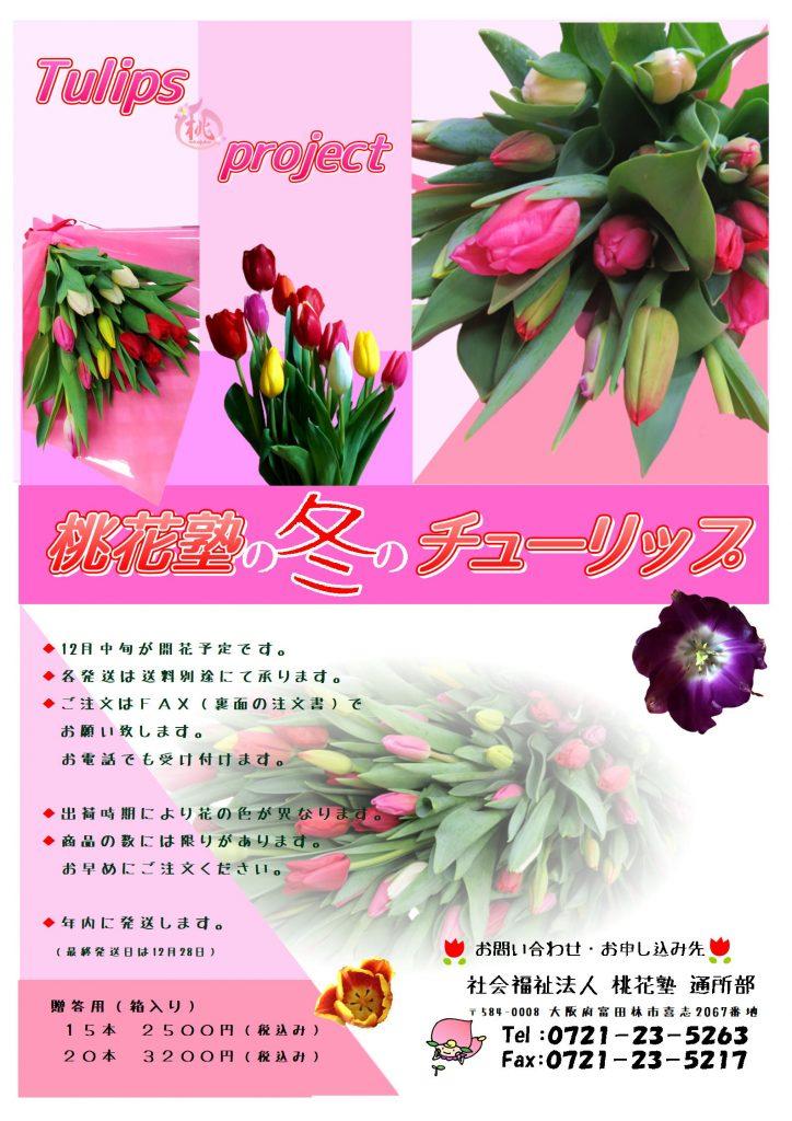 冬のギフト 🌹 チューリップの花束
